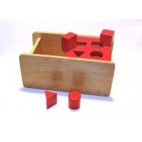 Caseta cu 4 forme geometrice si capac rabatabil