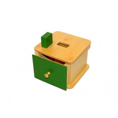 Caseta cu prisma dreptunghiulara si sertar