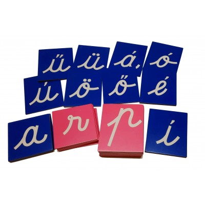 Litere mici cursive glasspapier - alfabet maghiar
