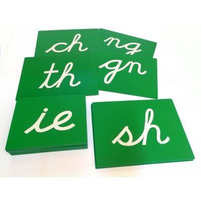 Digrame alfabet cursiv englezesc