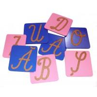 Sandpaper Capitals - Romanian Cursive