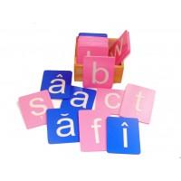 Sandpaper Letters - Romanian Arial