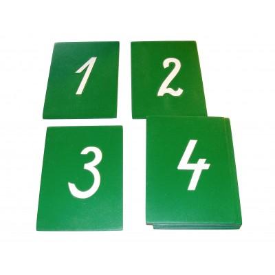 Cifre din glasspapier - cursive