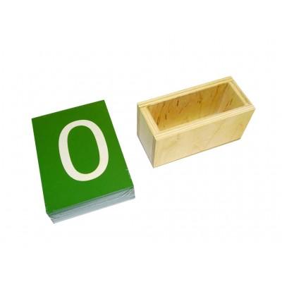 Cutie pentru cifre din glasspapier