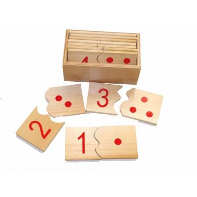 Puzzle cu numere 1 - 10