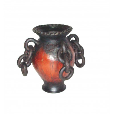 """Vas ceramica cu """"lant"""""""