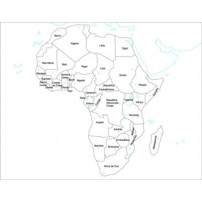 Harta de control pentru acasa - Africa