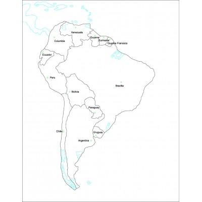 Harta de control pentru acasa - America de sud