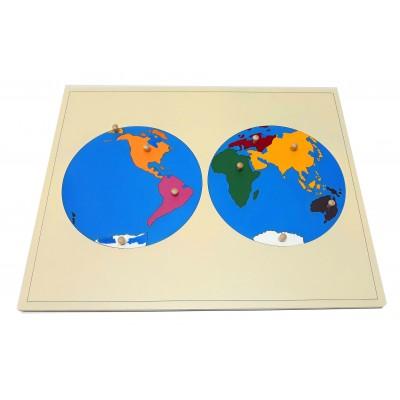 Harta puzzle pentru acasa - harta lumii