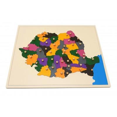 Harta puzzle pentru acasa - Romania