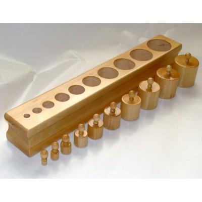 Cilindri natur cu buton setul 1