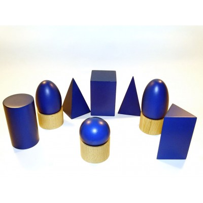 Forme geometrice albastre
